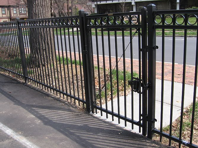 Montage ornamental steel fencing maintenance free