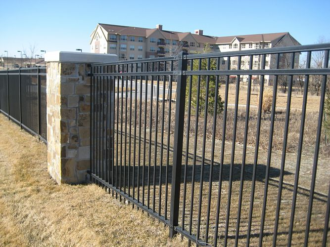 Montage plus ornamental steel fencing maintenance free