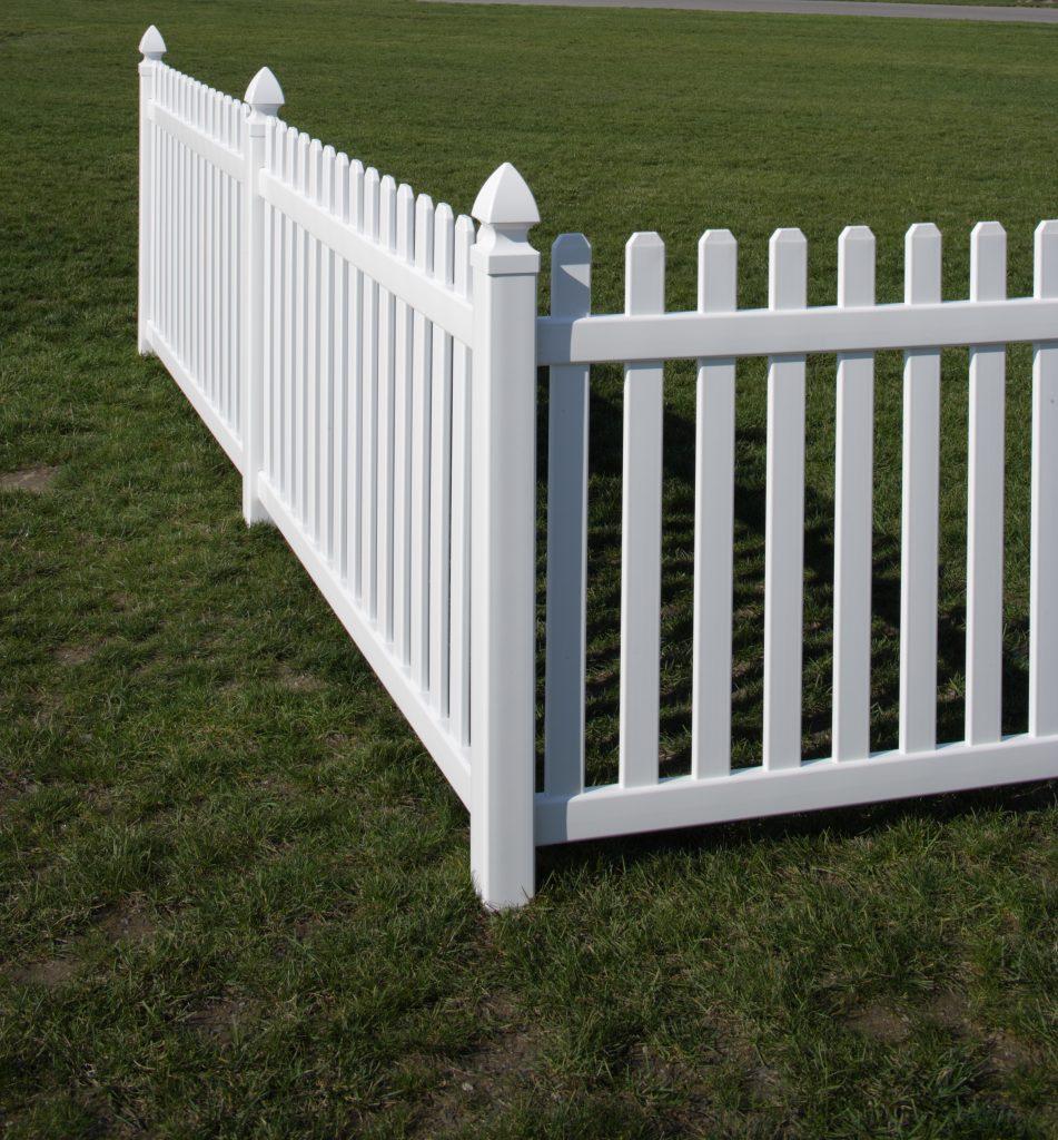 Rothbury vinyl fencing maintenance free for Picket fence cost estimator
