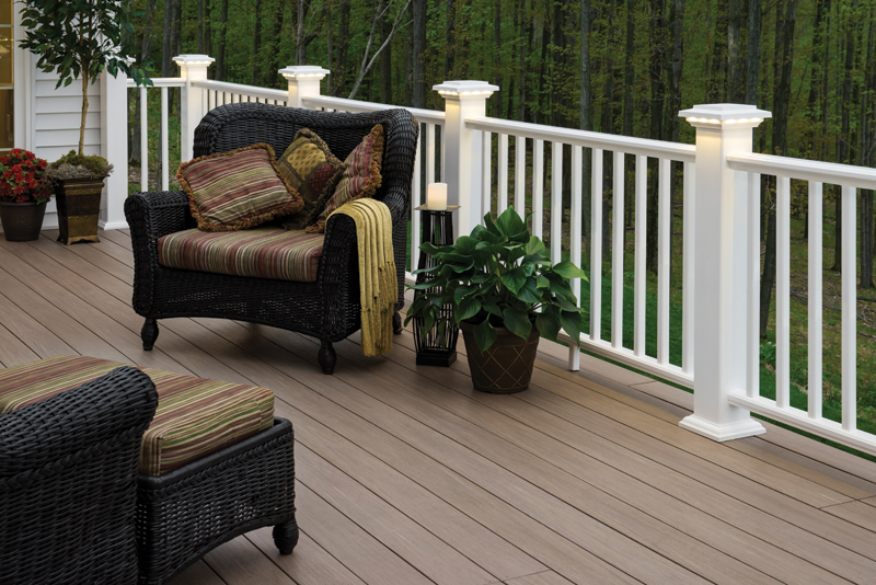Timbertech azek deck rail lighting