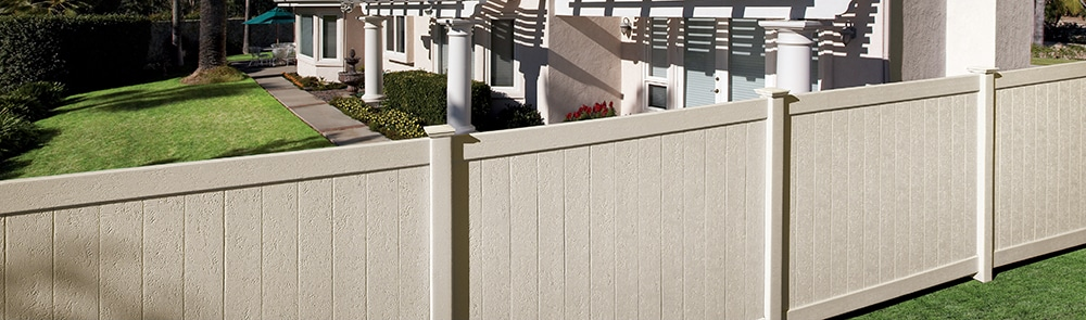 Vinyl Privacy Fence Around Yard