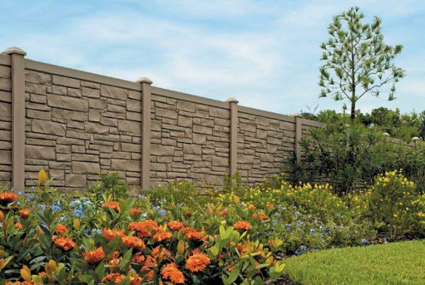 Maintenance Free Simulated Stone Fence