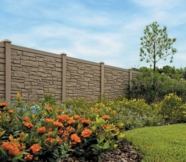 Maintenance Free Simulated Stone Fence