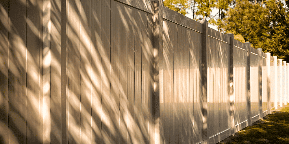 Bufftech vinyl fencing by CertainTeed is a great choice for vinyl fencing