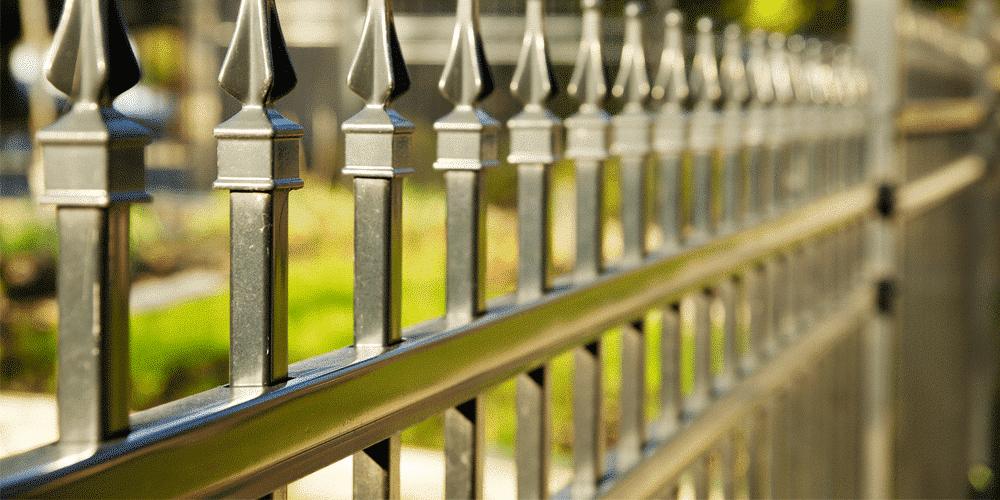 Ameristar pointed steel fence