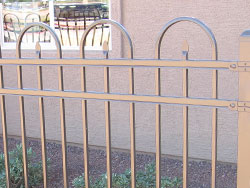 crescent style ameristar steel fence