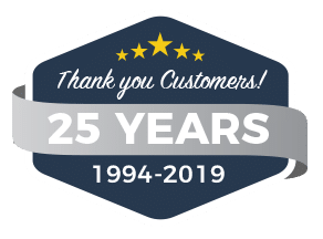 Thank you Customers for Helping Us Celebrate 25 Years!