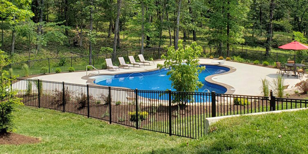 pool around fence