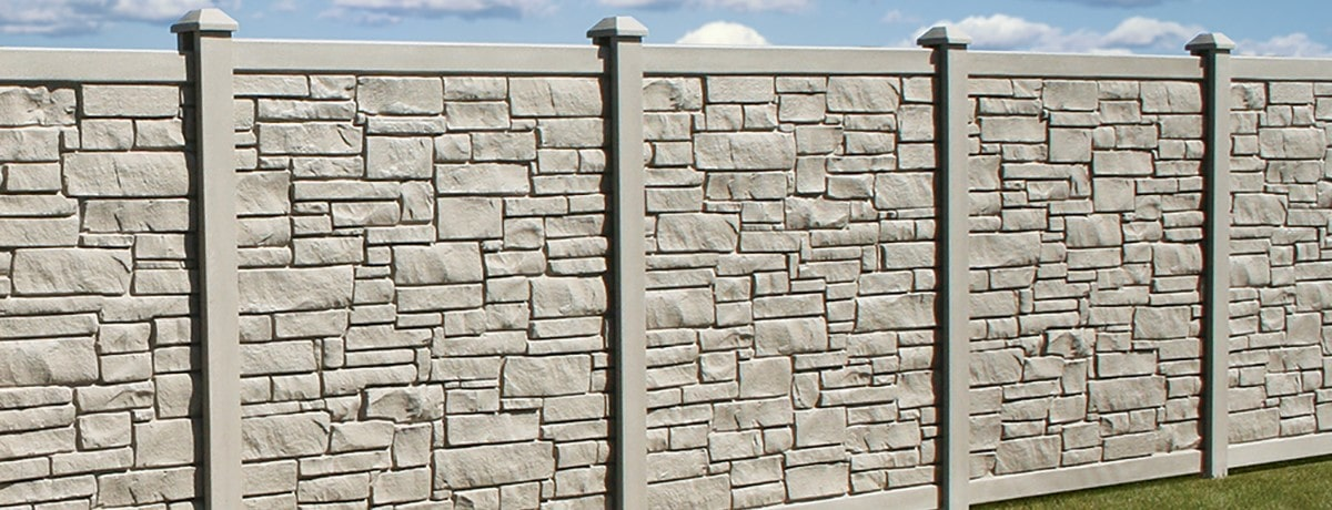 Bufftech Allegheny Privacy Fence (shown in beige)