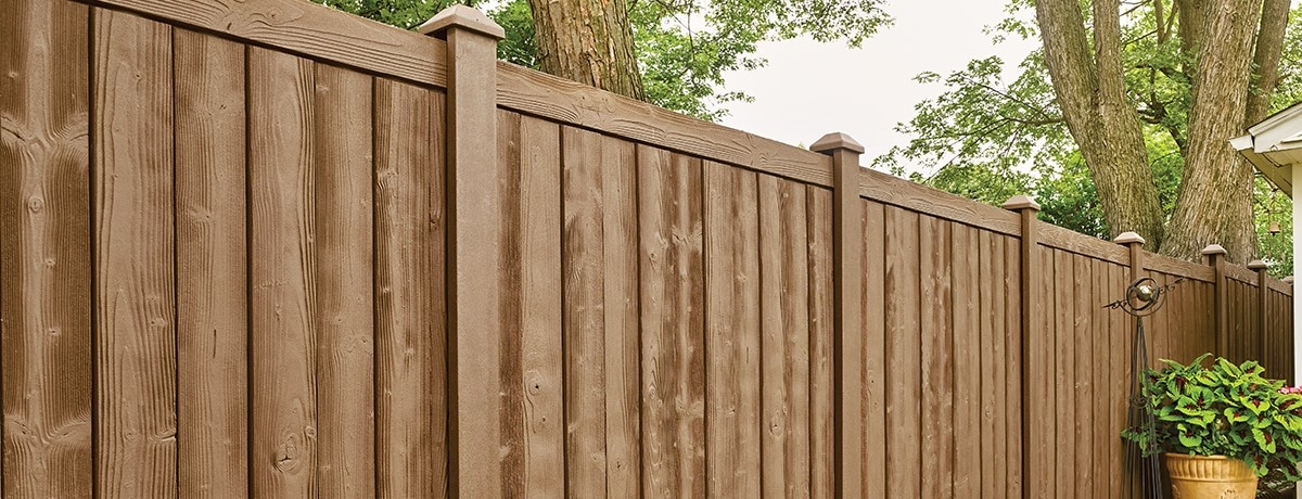 Bufftech Sherwood Stone Fencing (Woodgrain)