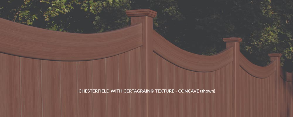 CHESTERFIELD WITH CERTAGRAIN® TEXTURE - CONCAVE (shown)